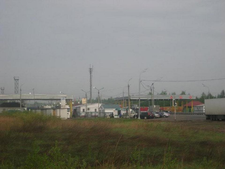 пограничный пункт Красная Горка, граница России и Белоруссии (фото wikimapia.org user 216989)