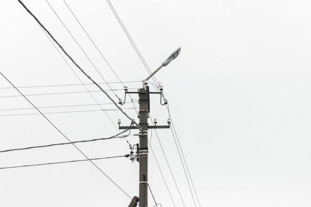 электрический столб освещение жлектричество