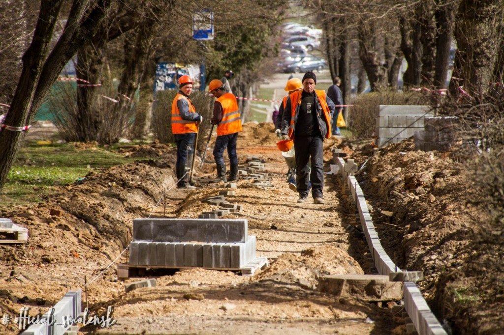 ремонт тротуаров дорог Смоленск