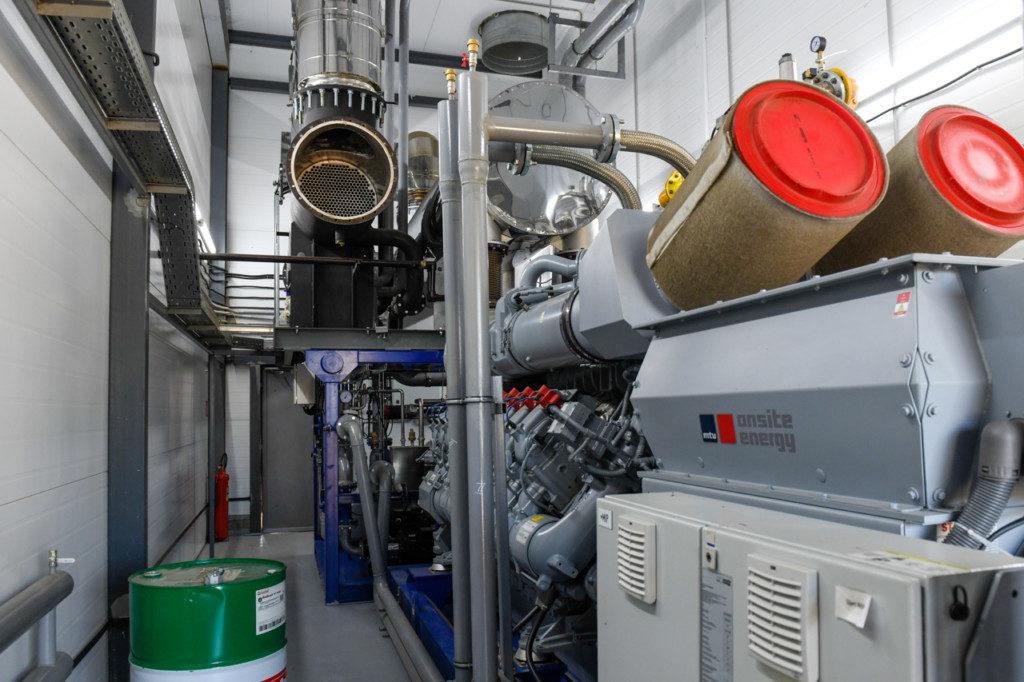 газопоршневая установка, генератор электричества предприятия Лава в Вязьме (фото admin-smolensk.ru)