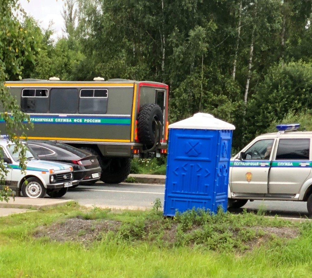 пограничная служба ФСБ, Красная Горка, участок госграницы с РБ (фото facebook.com yury.voskresensky)