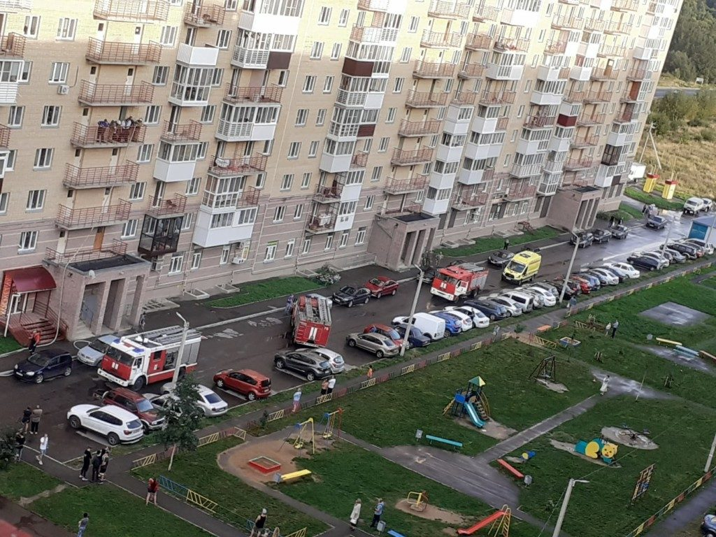 пожар 31.08.2020, Киевское шоссе, Миловидово (фото vk.com id135456495)