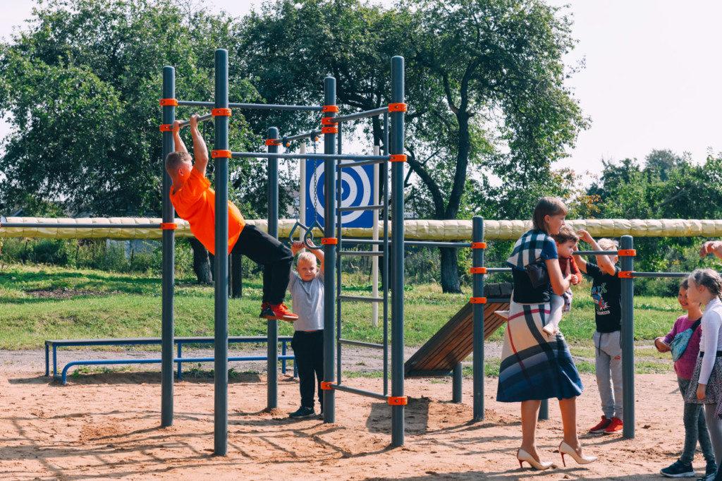 спортплощадка школы №1 в Дорогобуже (фото admin-smolensk.ru)