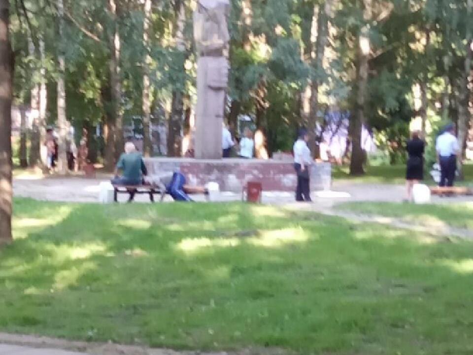 труп мужчины 6.08.2020, Фирсов, Сафоново, парк Афганец (фото vk.com public127703021)
