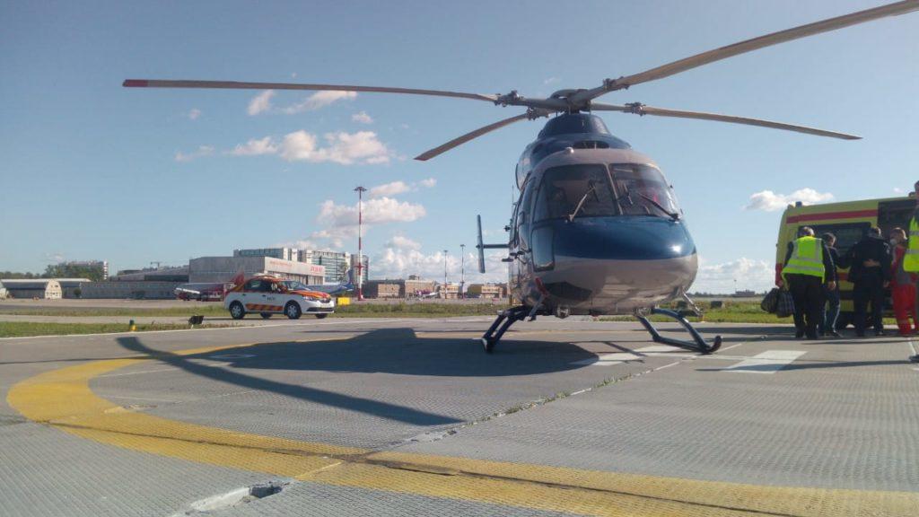 санитарная авиация Смоленской области, вертолёт Ансат (3)