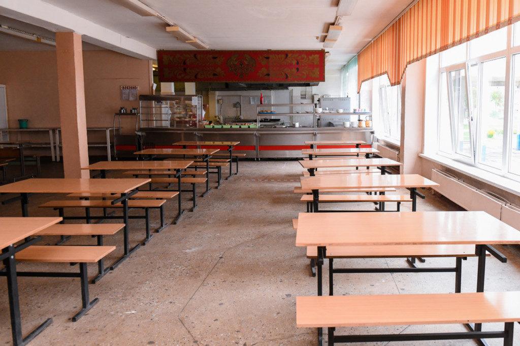 столовая столы еда