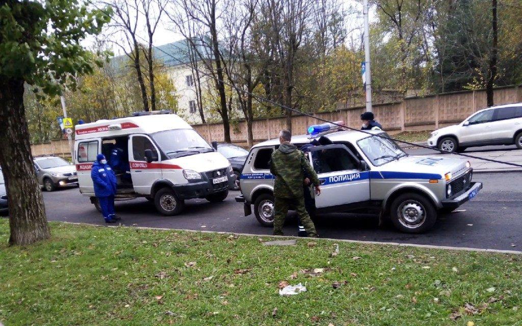 ДТП 20.10.2020, Фрунзе, скорая, ДПС, полиция (фото vk.com id521353184)