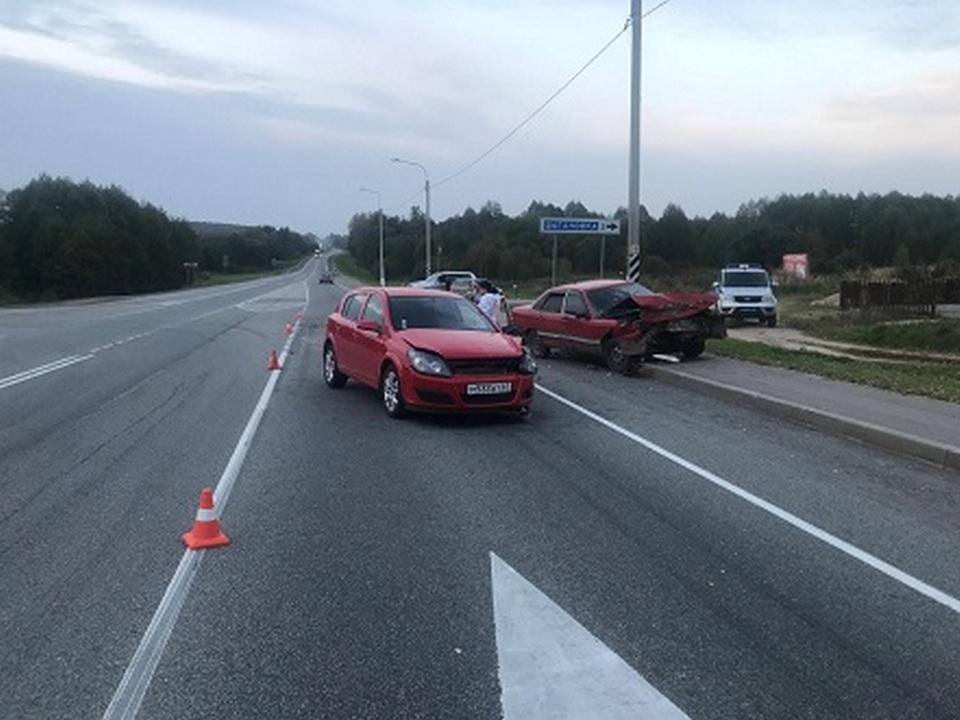 ДТП 4.10.2020, Р-120, Починковский район, Opel Astra, Audi 100 (фото 67.гибдд.рф)