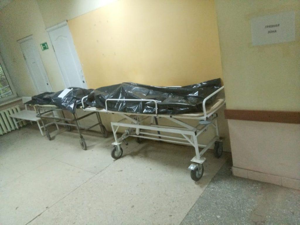 коридор третьего инфекционного госпиталя, первая смоленская клиническая больница на Покровке (фото vk.com messir67)