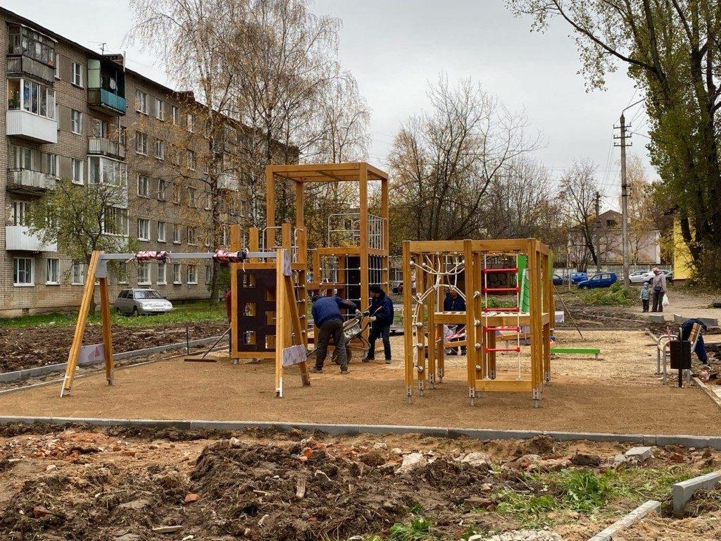 детская площадка крупской