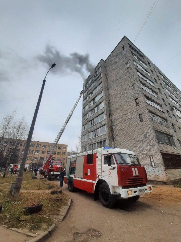 пожар Николаева 34в