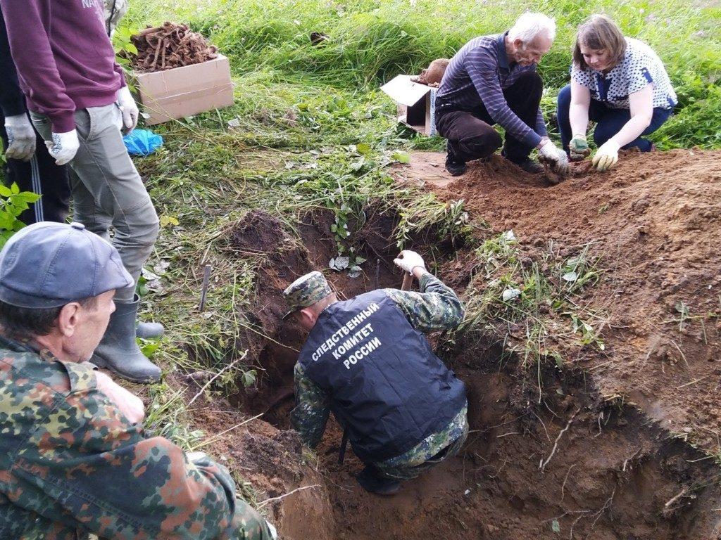 место захоронения жертв нацистских расправ в Дорогобуже, фото smolensk.sledcom.ru