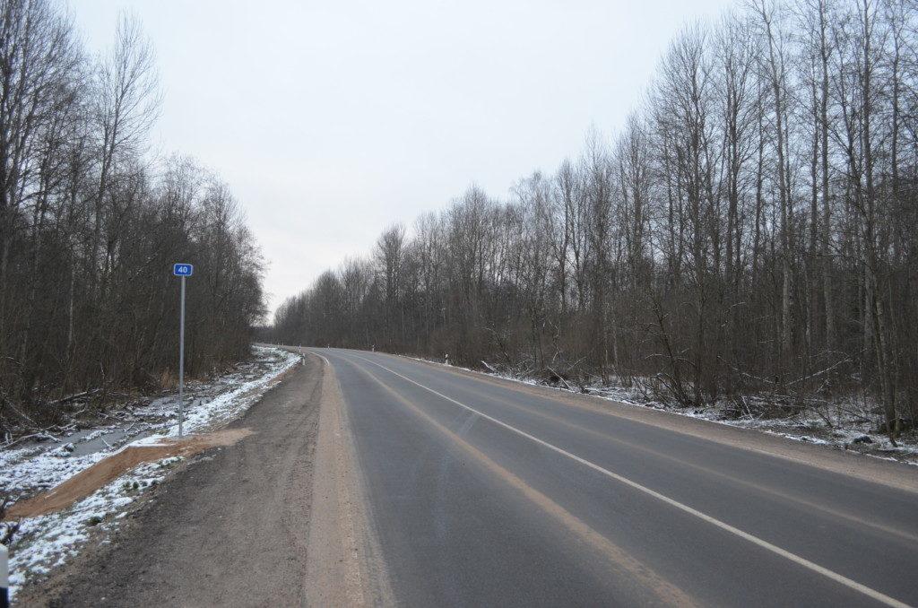 отремонтированный в 2020 году участок дороги между Демидовским и Руднянским районами, Смоленскавтодор