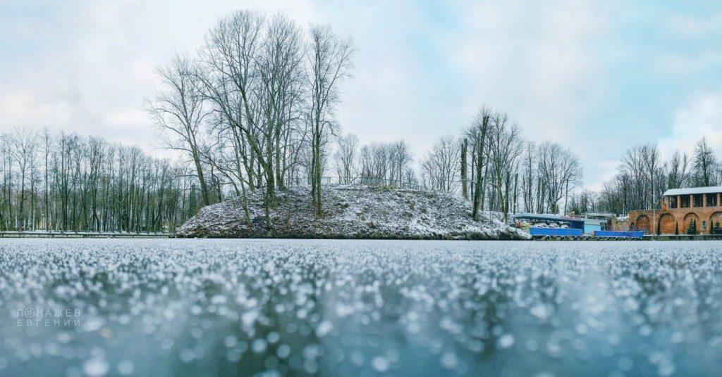 пруд Лопатинского сада, декабрь 2020 (фото instagram.com ponavision)