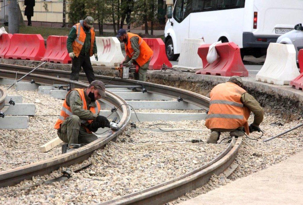 ремонт трамвайные пути