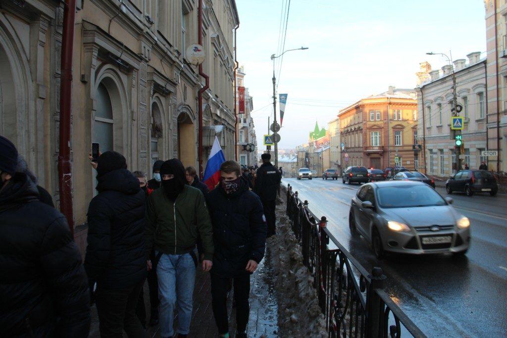 несанкционированный митинг 23.01.2021, шествие, Большая Советская