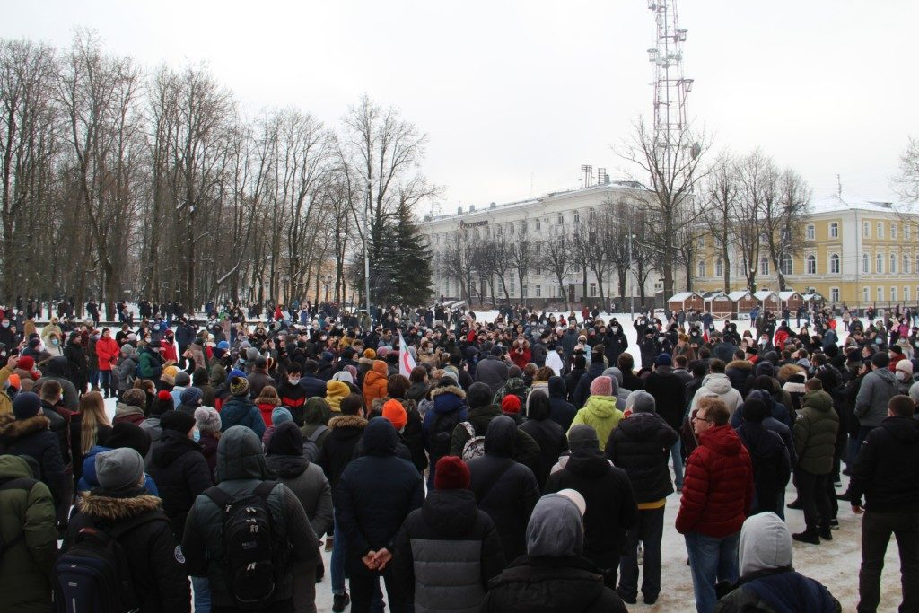 несанкционированный митинг 23.01.2021, Смоленск, площадь Ленина