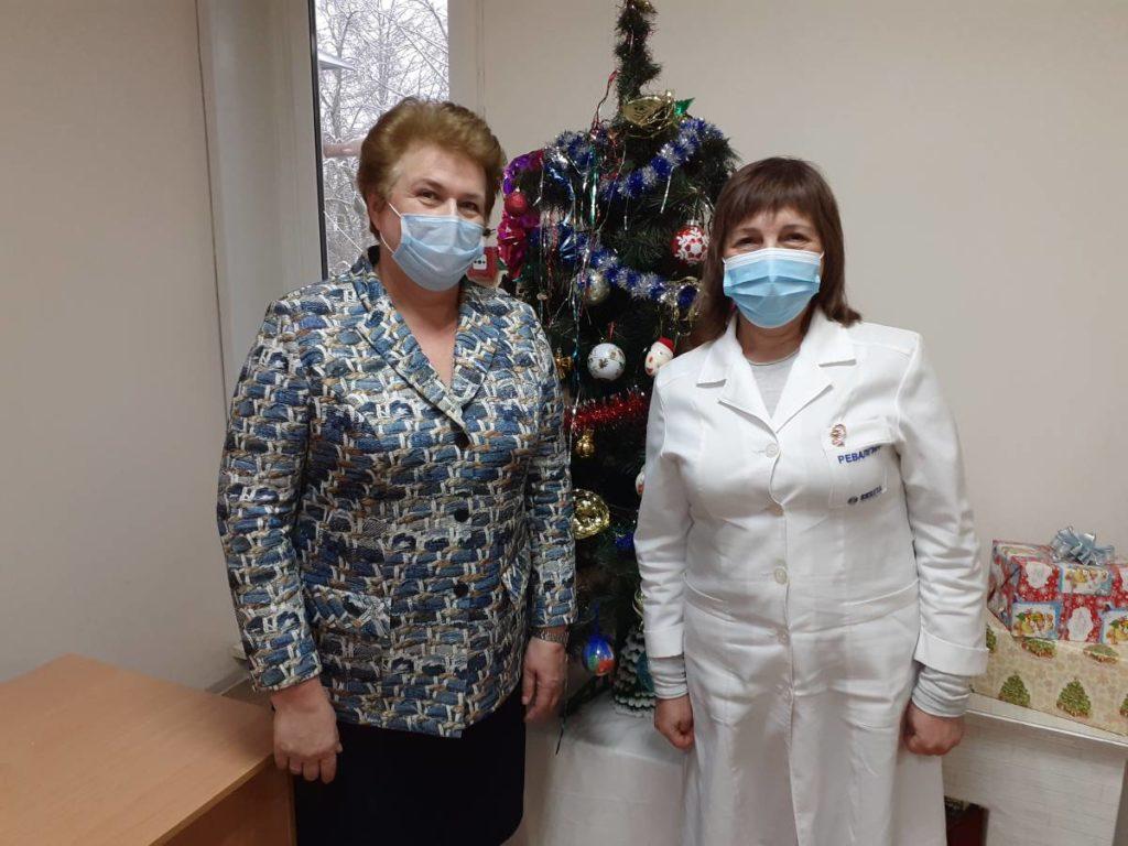 Окунева, станция скорой медпомощи, поздравление (фото smolensk.er.ru)