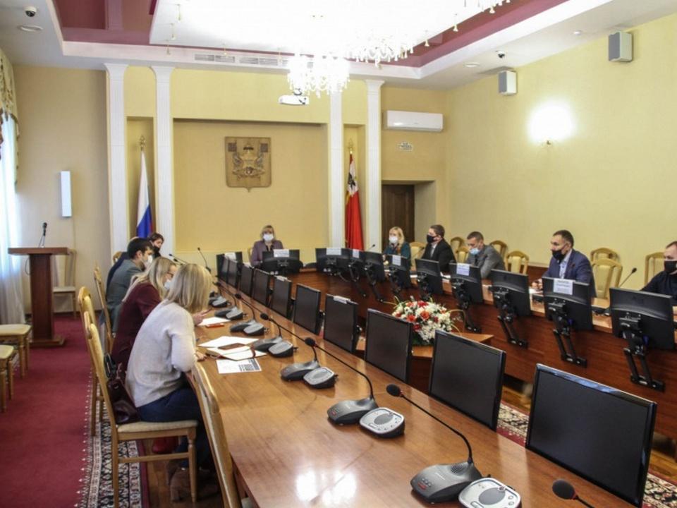 Пархоменко, заседание, Формирование современной городской среды (фото smoladmin.ru)