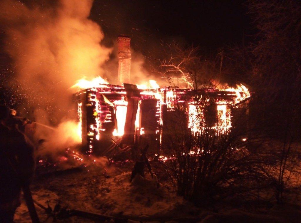 пожар Рославльский район
