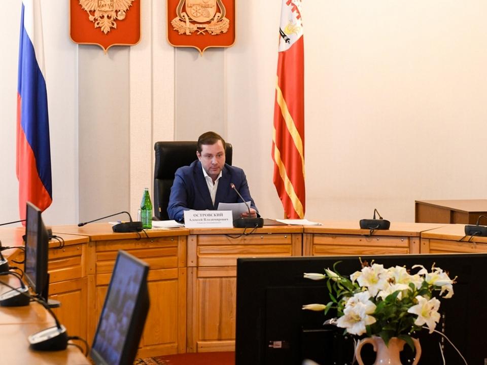 Алексей Островский, видеоселектор, расширенное заседание коллегии департамента по социальному развитию