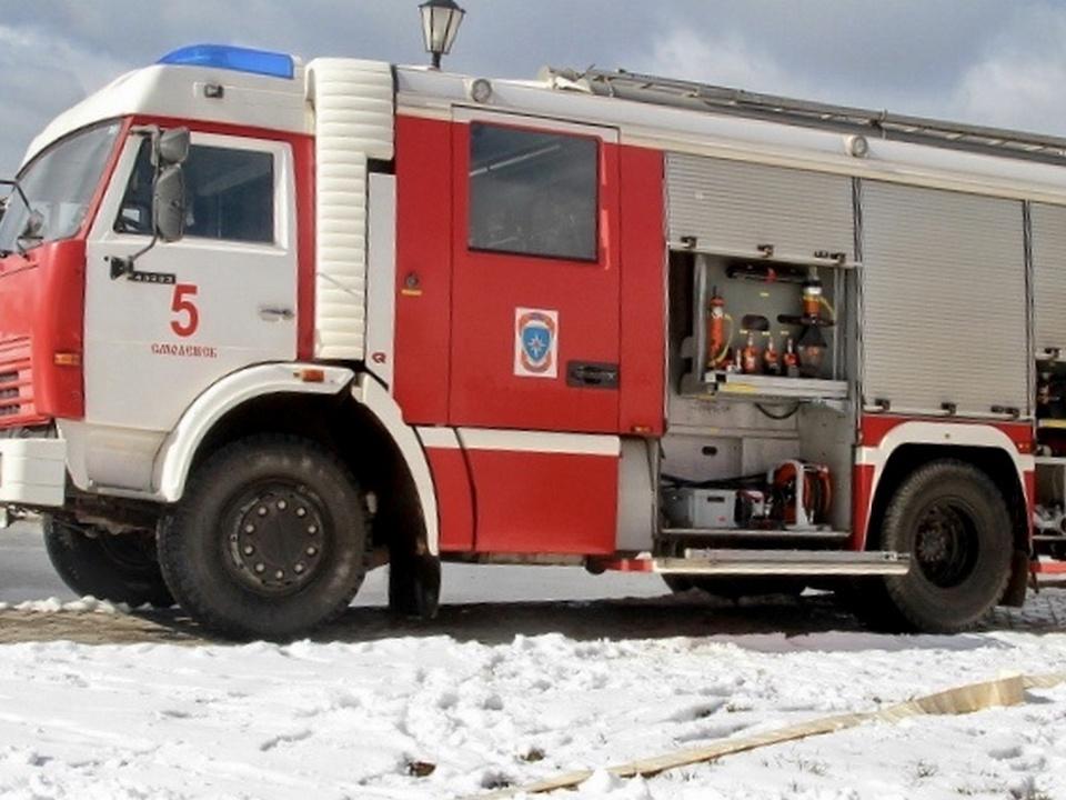 автоцистерна 5-й пожарно-спасательной части Смоленска, зима 2021 года (фото 67.mchs.gov.ru)