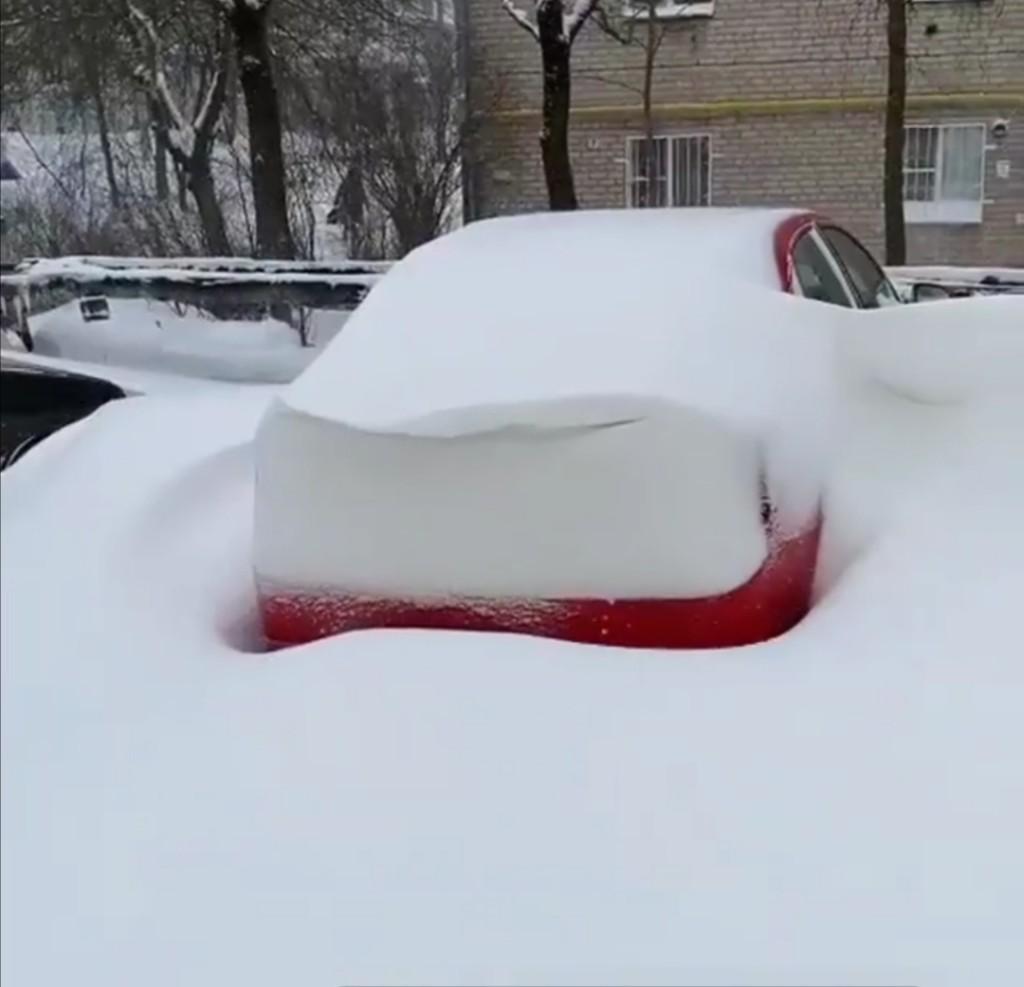 машина снег 1