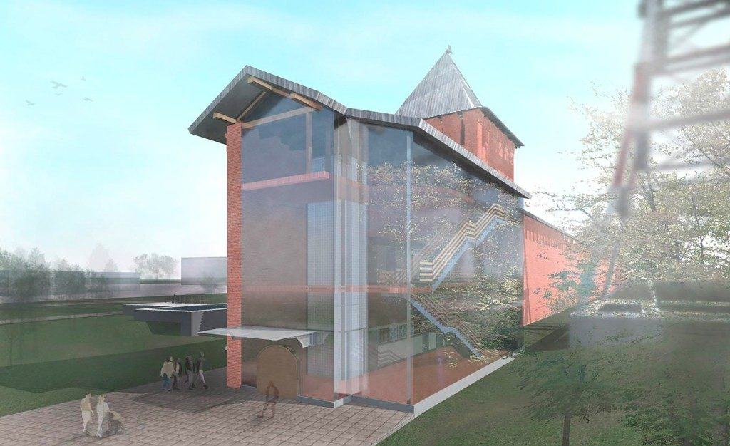 проект музеификации башни Бублейка (иллюстрация vk.com official_smolensk)