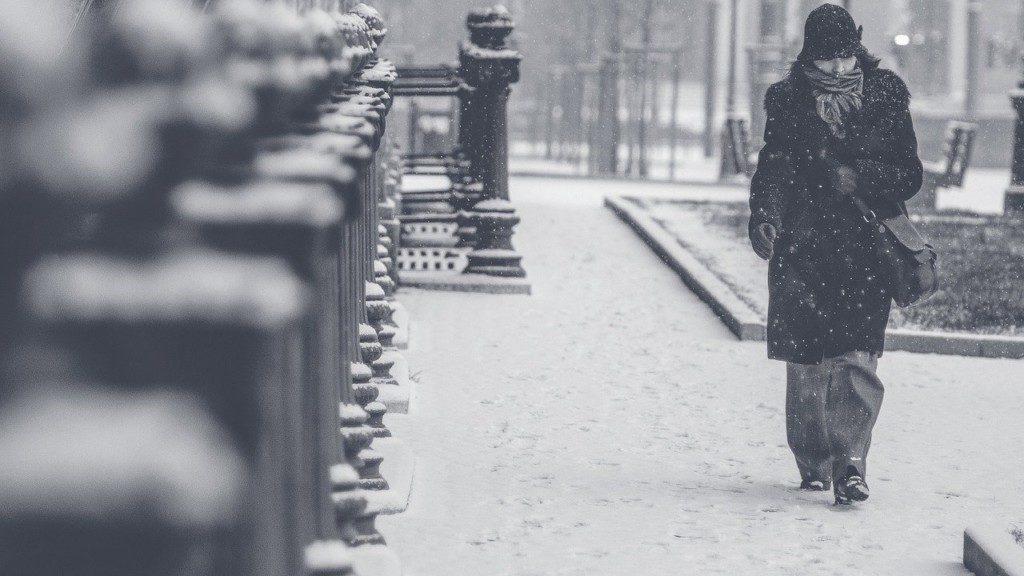 снег метель