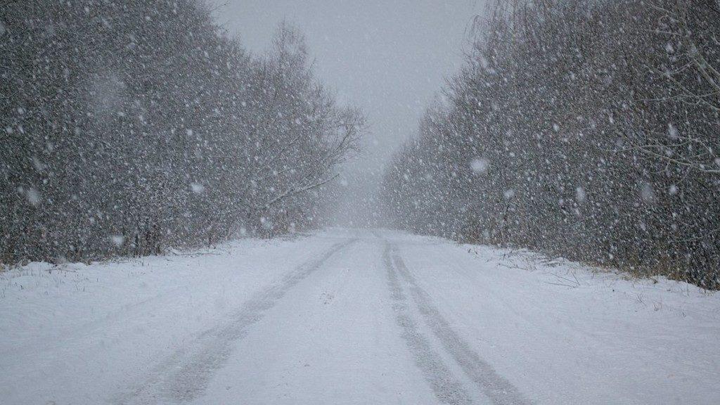 снегопад, просёлочная дорога (фото 67.mchs.gov.ru)