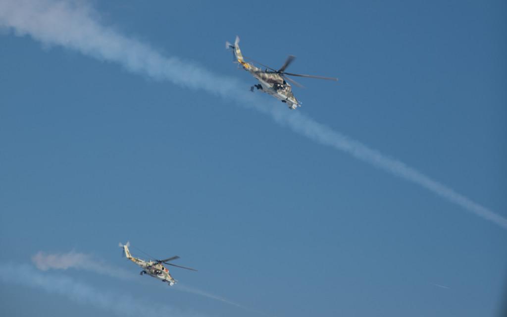 учения Ка-52 «Аллигатор», Ми-24 и Ми-8 в Смоленской области (фото mil.ru)