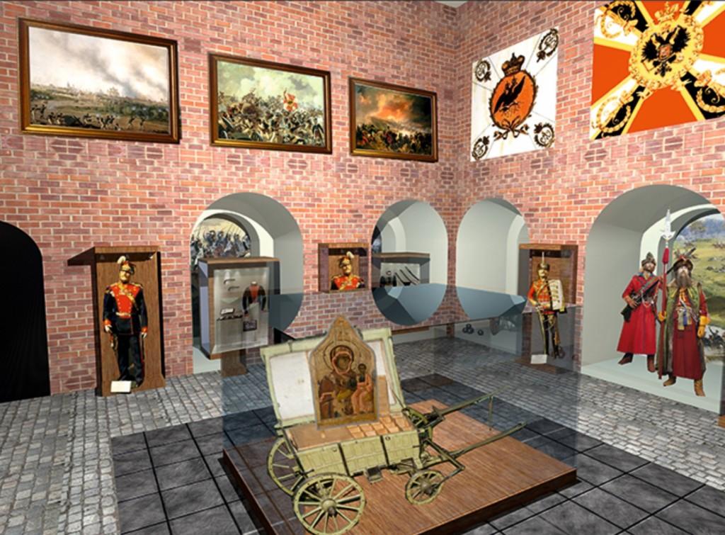дизайн-проект музея Смоленского сражения 1812 года в башне Никольские ворота (иллюстрация smoladmin.ru)