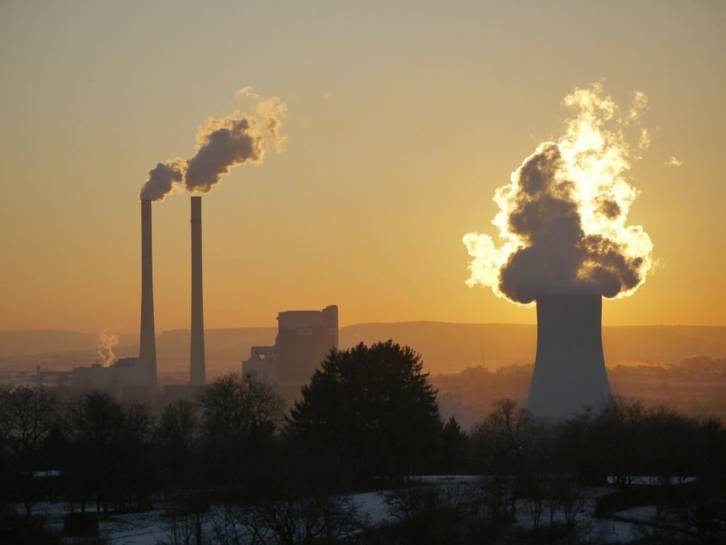 фабрика, завод, трубы, дым, пар, производство, загрязнение атмосферы