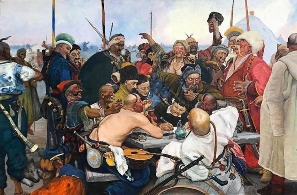 И. Репин. Запорожцы пишут письмо турецкому султану