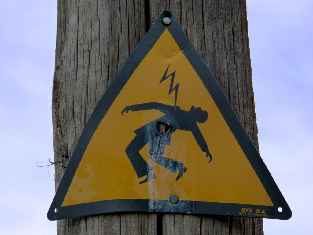 удар током, поражение электричеством