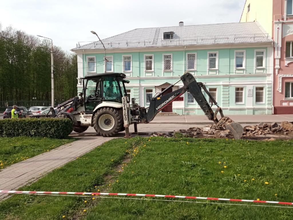 17.05.2021, начало реконструкции сквера имени Клименко_1