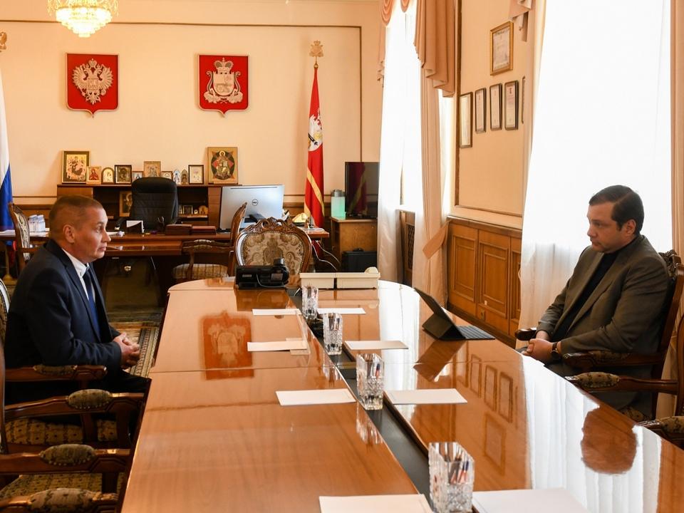Борисов, Островский, рабочая встреча, май 2021 (фото admin-smolensk.ru)