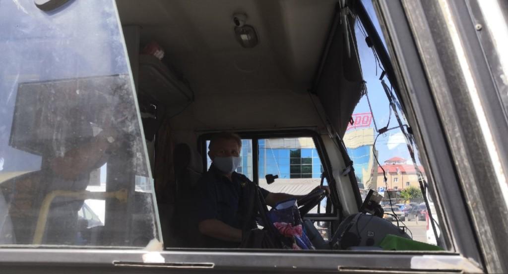 автобус водитель маска