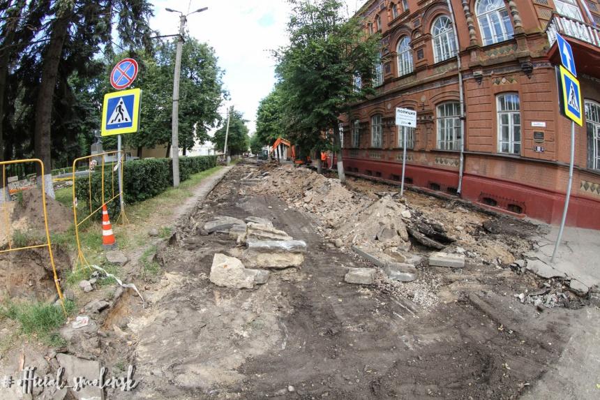 В мэрии Смоленска заявили о возможности обустройства новых парковок в центре города