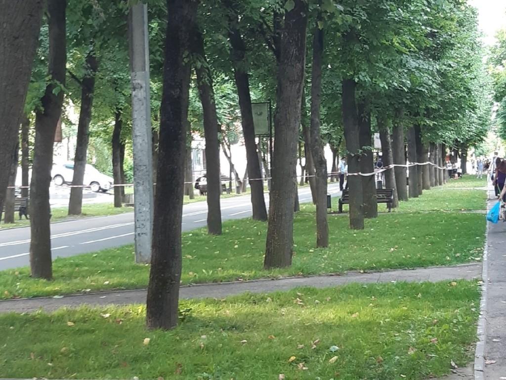 перекрытие тротуаров 21.07.2021 на ул. Октябрьской революции, банк ВТБ, звонок о бомбе, телефонный терроризм