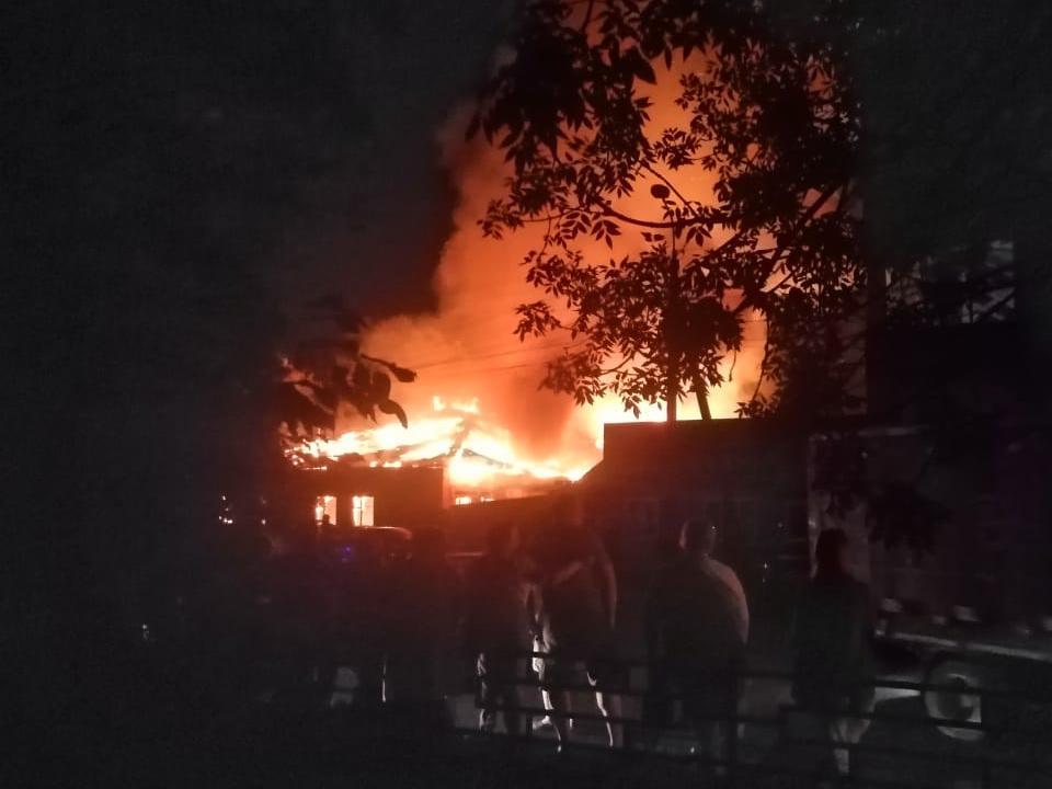 пожар 12.07.2021 на Вяземском хлебокомбинате