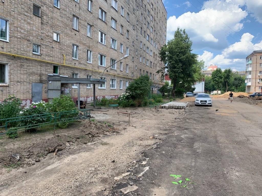 ремонт межквартального проезда на улице Юрьева (фото smolensk.er.ru)