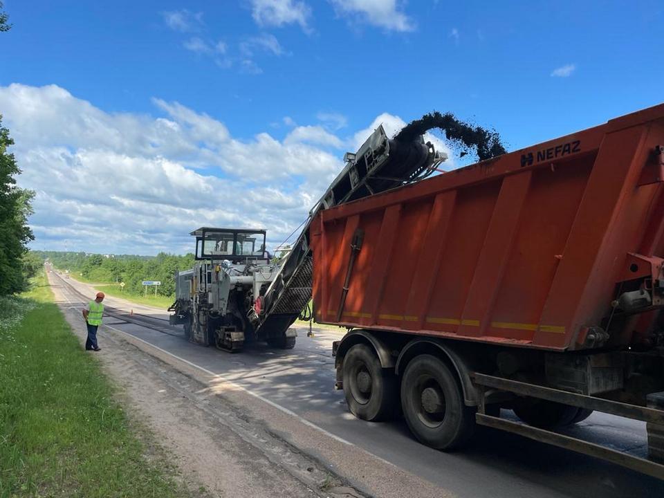ремонт участка Старой Смоленской дороги в Кардымовском районе, лето 2021, Смоленскавтодор