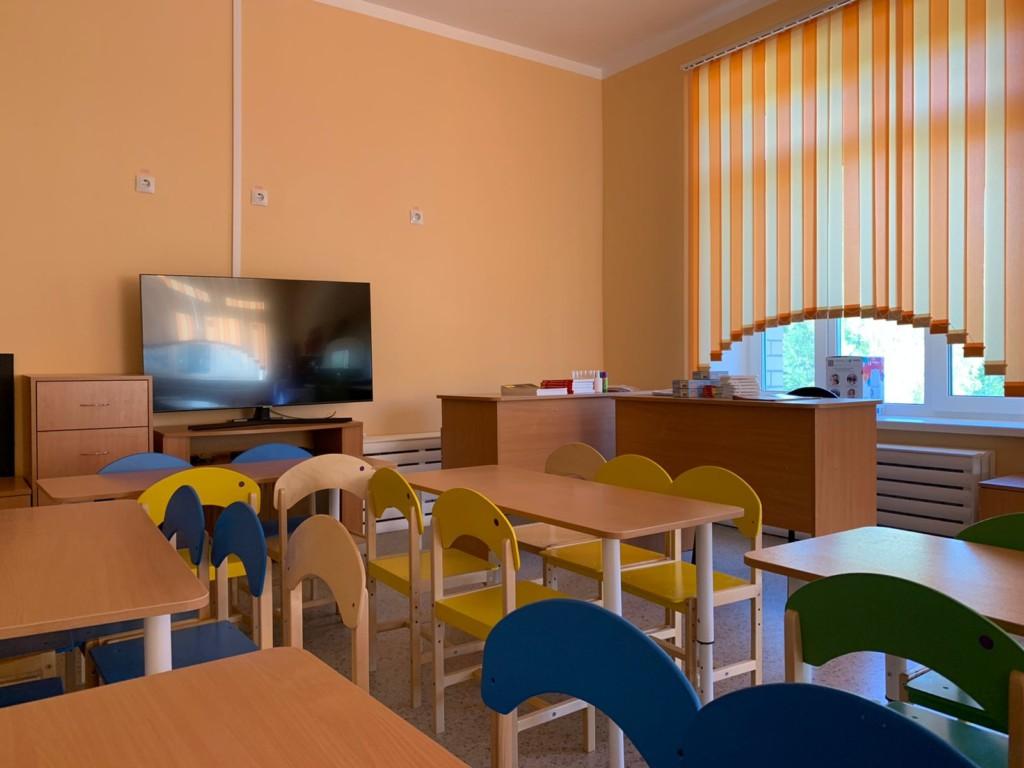 класс для занятий в детском саду на Королёвке, август 2021 (фото kapstr.admin-smolensk.ru)