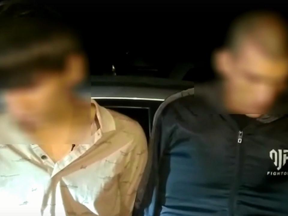 перевозчики героина, среднеазиаты, Вязьма (кадр видео 67.mvd.ru)
