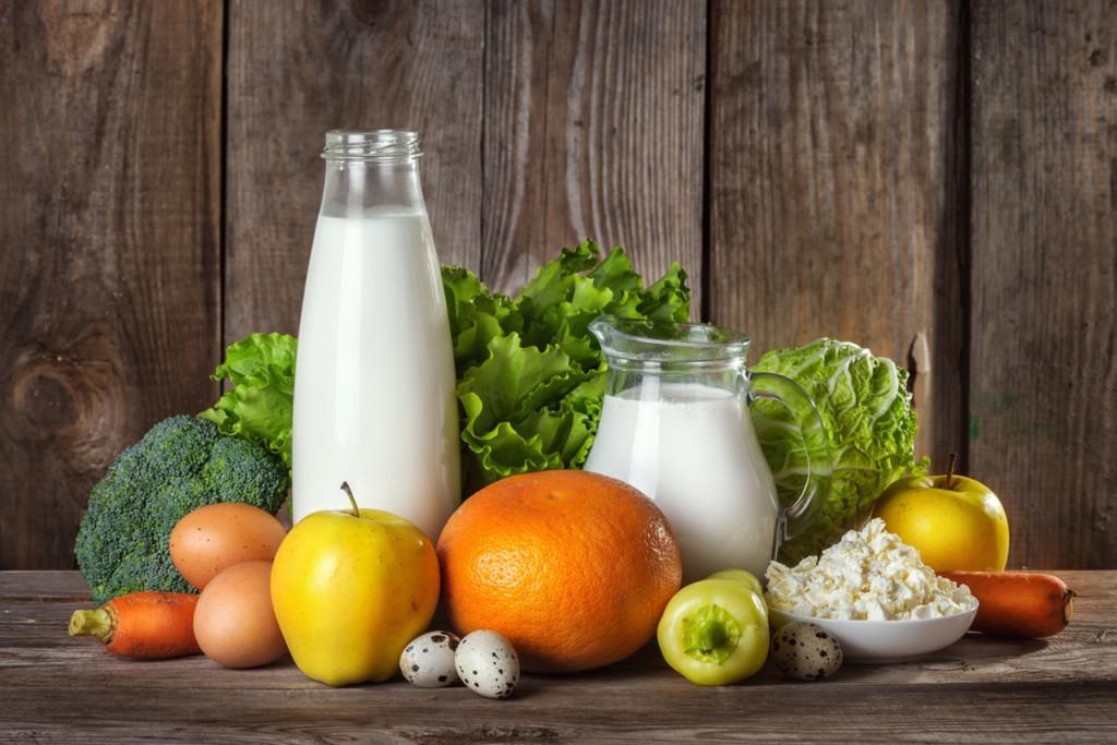 продукты, овощи, фрукты, яйца, творог, молоко