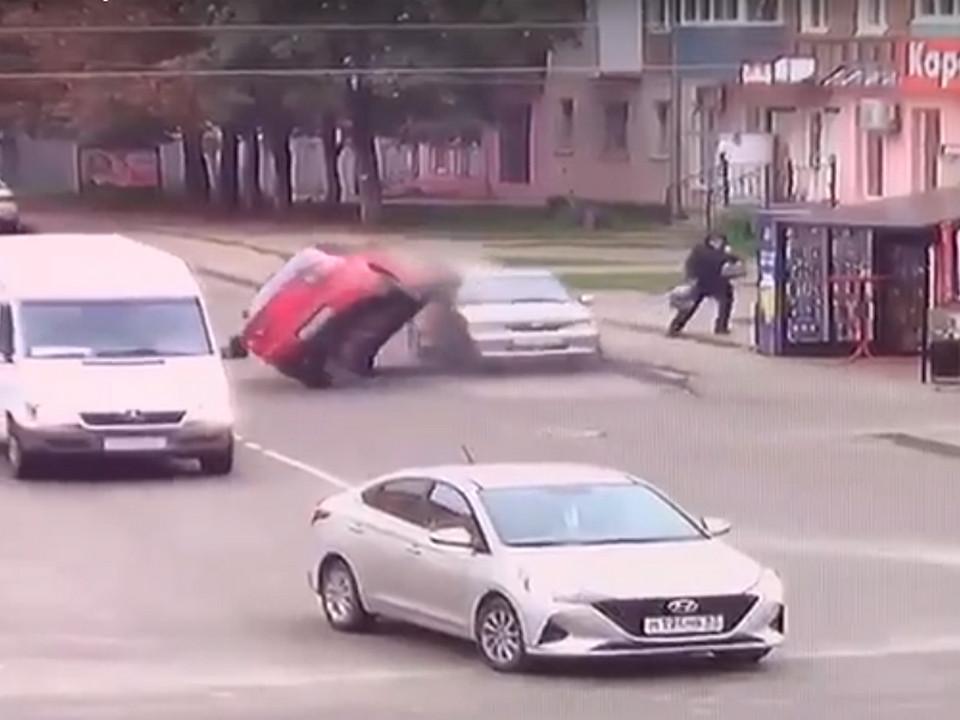 опрокидывание Mazda 18.09.2021 в Рославле