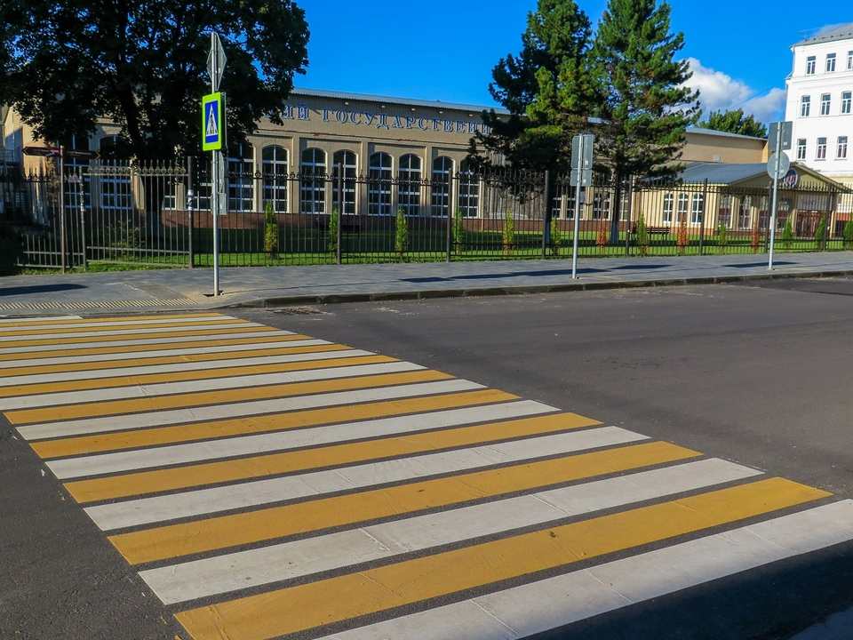 пешеходный переход на улице Пржевальского, сентябрь 2021, СмолГУ