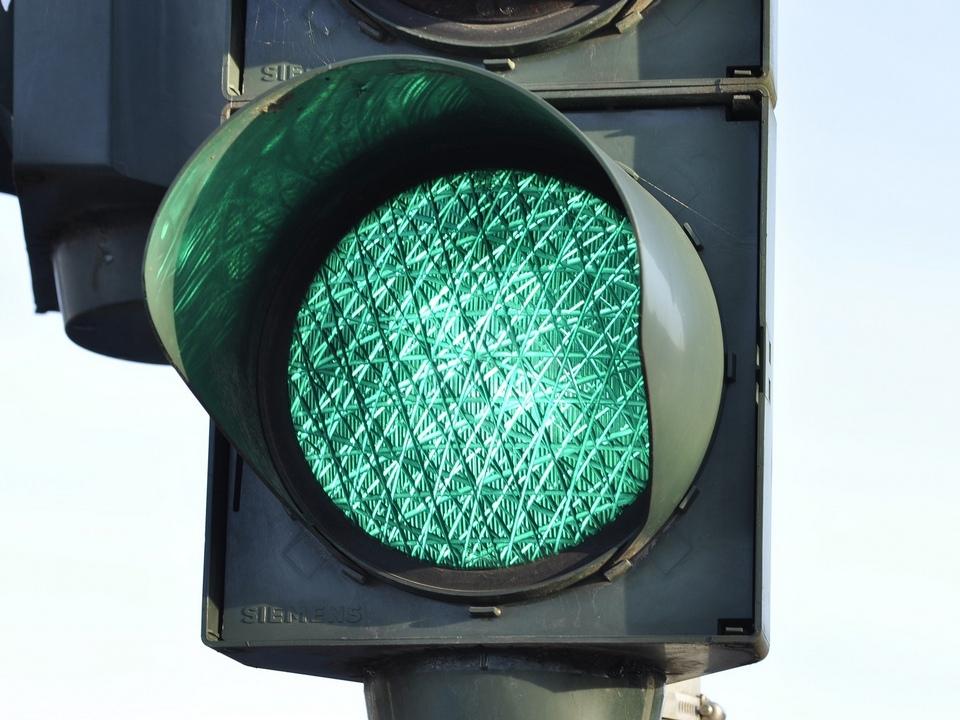 светофор, зелёный сигнал